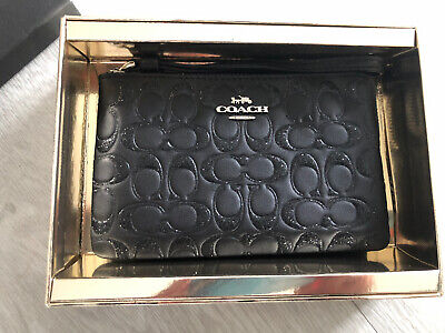 Coach Corner Zipped Wristlet/Purse - Black - New with Tags and Box