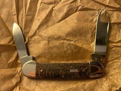 Case Cutlery Knife 25574 Black Sycamore Wood Canoe