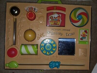 Vintage Fisher Price #134 Baby Toddler Crib Activity Center Toy Original Box1973