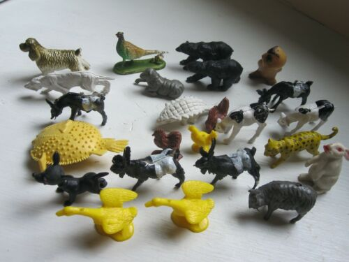 24 Small Various Animals Cake Toppers or Decorations for Crafts