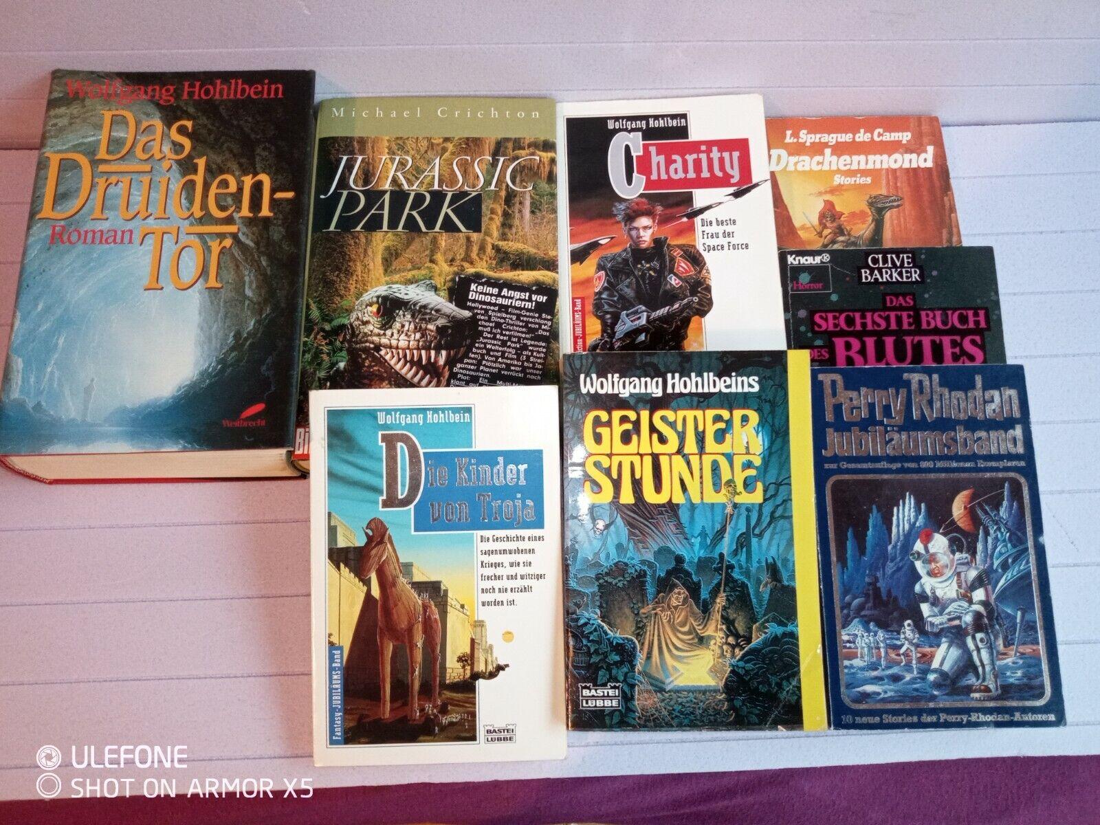 8 Utopische Romane Science Fiction  verschiedene Schriftstellern Hohlbein