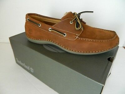 TIMBERLAND 74001 Annapolis Mens MOC 2 Eye Boat Style Suede Casual Comfort Shoes 2 Eye Moc