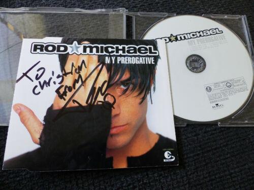 "ROD MICHAEL signed signiert Autogramm auf ""MY PREROGATIVE"" CD InPerson LOOK"
