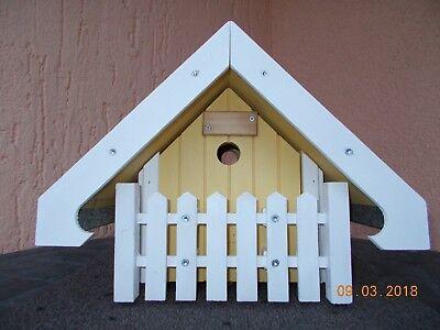 Nistkasten/ Vogelhaus, gelb, handgemacht, NEU