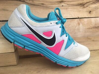 3 Plus Womens Running Shoes (Nike Womens White/Pink/Teal Lunarfly 3 Plus Running Shoes 487751-103 Size 7)