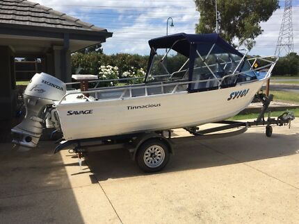 Stacer 4.5 Runabout with Honda 50hp  4 stroke