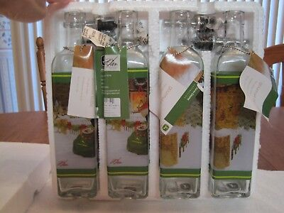 2007 JOHN DEERE COLLECTION 4 GLASS GOURMET BOTTLES--NEW