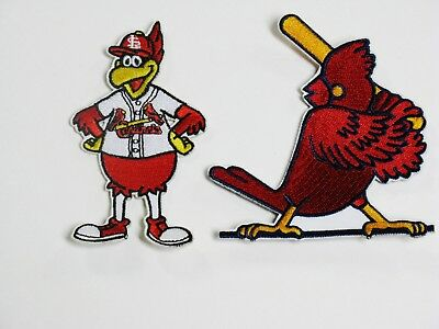 LOT OF (2) MLB ST. LOUIS CARDINALS KILLER BATT BIRD, MGR. BIRD PATCHES ITEM # 68