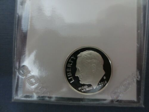 2019 S .99.9% SILVER PROOF ROOSEVELT DIME DEEP CAMEO..