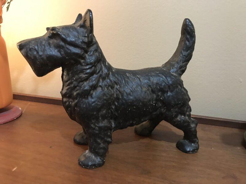 Vintage Antique? Cast-Iron Scottish Terrier Scottie Dog Door Stop