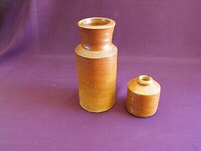 Early 20th Century Stoneware Bottle and Ink Bottle