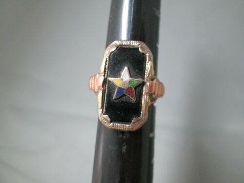ORDER OF EASTERN STAR 10K GOLD VINTAGE RING SZ 4 VERY GOOD CNDTN HEIRLOOM PIECE