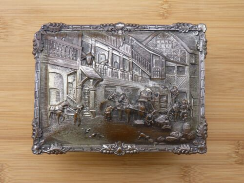 Antique 19th Century Silver Plate Jewelry Box