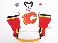 CALGARY FLAMES AUTHENTIC AWAY TEAM ISSUED REEBOK EDGE 2.0 7287 JERSEY SIZE 54