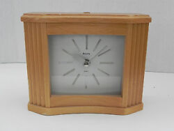Bulova Lakewood Wood Quartz Desk Clock #B2769; The Arizona Republic Plate