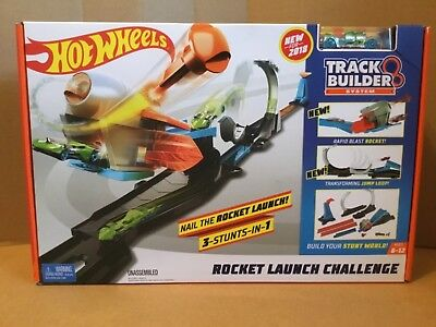 HOT WHEELS TRACK BUILDER SYSTEM ROCKET LAUNCH CHALLENGE FACTORY SEALED BOX