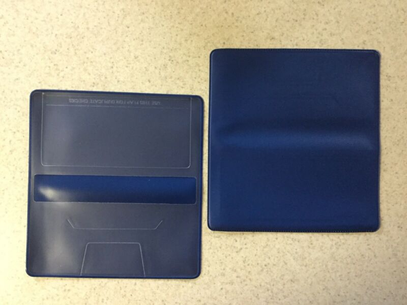 1 NEW ROYAL BLUE VINYL CHECKBOOK COVER WITH DUPLICATE FLAP