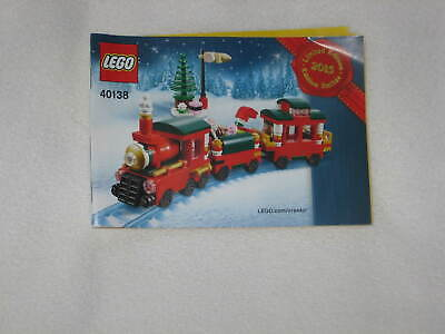 Lego Limited Edition Christmas Train Instruction Manual Booklet Only 40138 Book