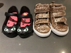 Size 9 Toddler Mini Melissa and Glitter Runners