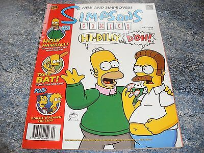 The Simpsons May 2004 Comic 92 Complete With Pull Out New And Simproved