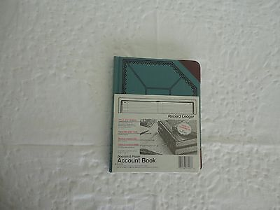 Boorum Pease Recordaccount Book Bluered Cover 300 Pages 9 58 X 7 58