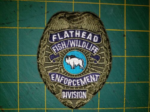 FLATHEAD RESERVATION TRIBAL POLICE PATCH FISH WILDLIFE GAME WARDEN DNR RANGER