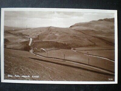 Shap Fells towards Kendal Westmorland RP Postcard