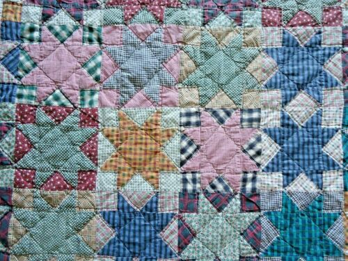 Handmade Americana Quilt Throw Blanket Wall Hanging