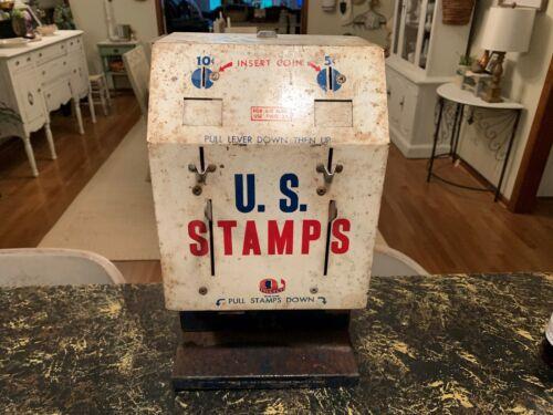 US POST OFFICE VINTAGE 50-60s POSTAGE STAMP MACHINE 5 cent & 10 cent RARE