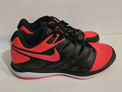 purchase cheap 109d0 3b660 NEW - Nike Air Zoom Vapor X HC Mens Tennis Shoes Black Red  AA8030-006  Sz  10.5