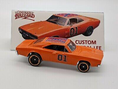Hot Wheels Custom Dukes of Hazzard General Lee '69 Dodge Charger Orange Rims