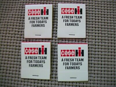 4~International Harvester Matchbook Matches Geneva Implement Co. -