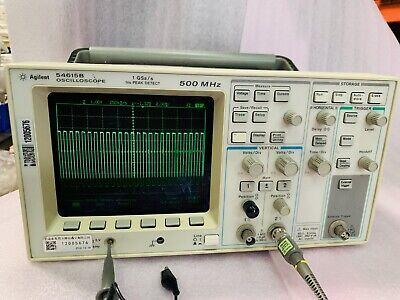 Agilent Hp Keysight 54615b - 500mhz 2ch Oscilloscope 2 Channel Tested Working