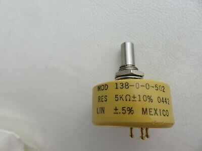 New Vishay Spectrol Potentiometer Mod 138-0-0-502 13800502