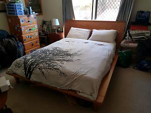 Wooden QUEEN bed frame Monash Tuggeranong Preview