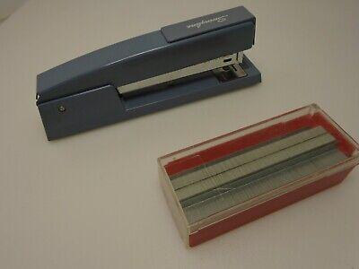 Swingline Blue Metal Stapler Staples Office Duty Desktop Accessory Made In Usa