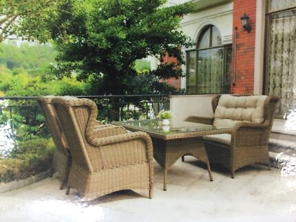 Brand new outdoor wicker dining lounge setting Breakwater Geelong City Preview