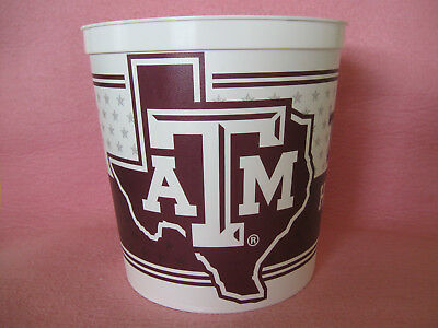 "Texas A&M Aggies Home of the 12th Man 8"" tall Popcorn Bucket or Ice Bucket"