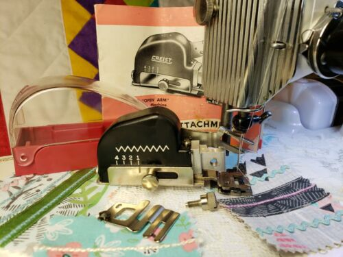 Vintage ZigZag Attachment w Edge Guide Singer Featherweight 221 Tested Complete!