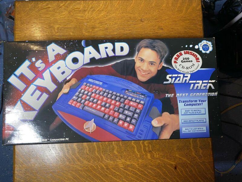 Vintage MIB 1995 Next Generation Star Trek Keyboard by Brainworks