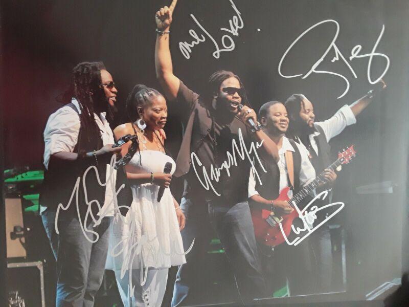 Morgan heritage 16x20 Reggae Autograph...coa from jsa