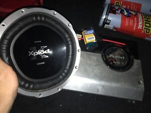 Sony xplod sub and amp