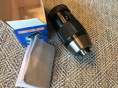 Keyless Drill Chuck 132-12 Capacity Jt33 Taper Lathe Mill Drill Press