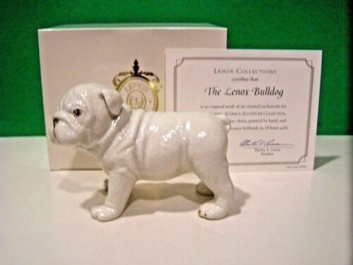 LENOX BULLDOG PUPPY Dog sculpture NEW in BOX with COA Mack truck
