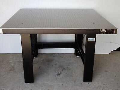 Tested Newport 4 X 4 Optical Breadboard Table Tmc Pneumatic Self Level Bench