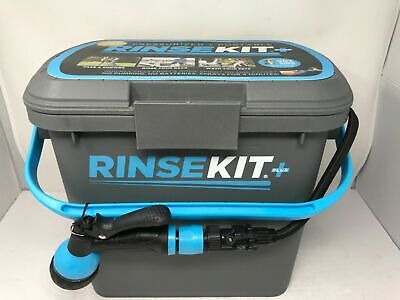 Rinse Kit Portable Shower Plus Gray 2 Gallon Tank Dual Port NEW!