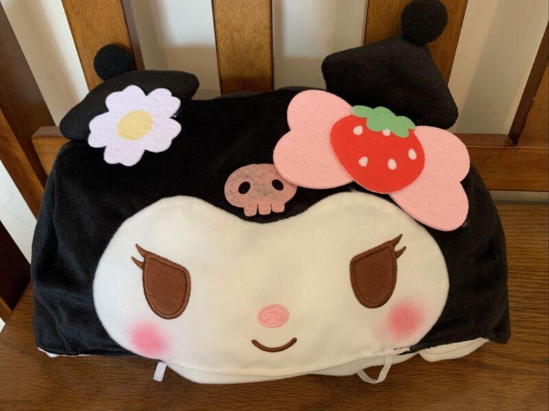Sanrio My Melody Premium Kuromi Strawberry Plushy Tissue Box Cover