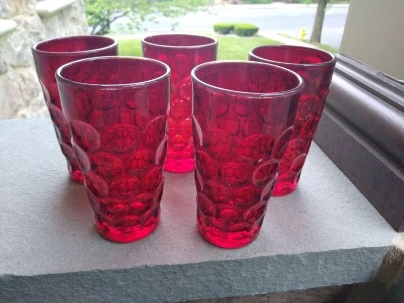 Imperial Provincial Pattern Dark Ruby Red Water 5:Tumblers