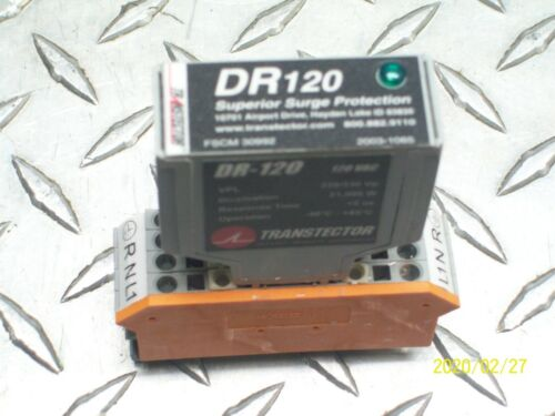 TRANSTECTOR DR-120 SURGE PROTECTOR 120V DIN-RAIL