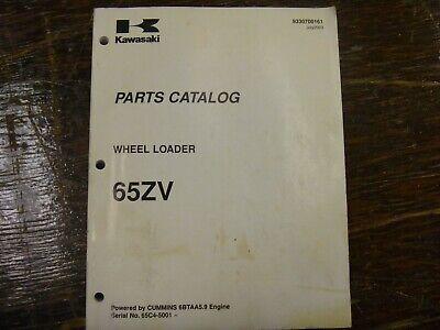 Kawasaki 65zv Wheel Loader Factory Parts Catalog Manual Book